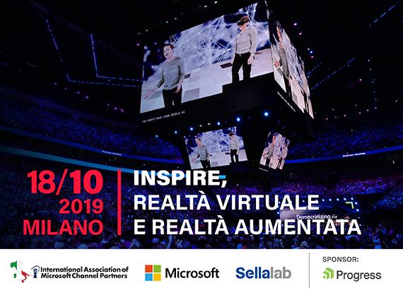 """IAMCP e Microsoft: """"Inspire, Realtà Virtuale e Realtà Aumentata."""" Il 18 ottobre al Sellalab di Milano"""