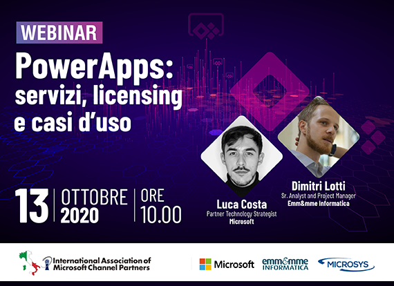 webinar POWER APPS - IAMCP 13 ottobre