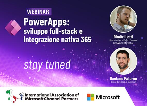 16 Set 2021 | Power Apps: sviluppo full-stack e integrazione nativa 365